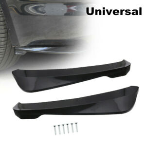 Universal Car Side Skirt Bumper Spoiler Rear Lip Splitter Winglet Wings Diffuser