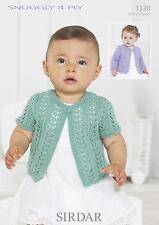 Fast & Post Sirdar 1330 Knitting Pattern Cardigans in Sirdar Snuggly 4 Ply