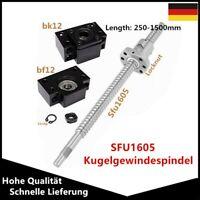 SFU1605 Kugelumlaufspindel 250-1500mm fertiggestelltem & BF/BK12 End Festlager