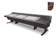 Argosy 90 Series Desk for Avid for C|24 Console Mahogany Trim | 90-3NC24-R-B-M