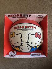 "Hello Kitty Sanrio 40th Anniversary Junior 27.5"" Basketball NEW"