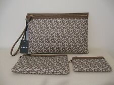 NWT DKNY DONNA KARAN NEW YORK VELA TRIPLE CLUTCH/POUCH ...Authentic!!!