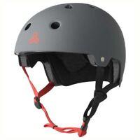 Triple 8 Brainsaver Skateboard/BMX EPS Helmet Rubber Gun Grey