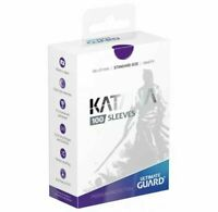 Ultimate Guard Katana Card Sleeves - Purple - 100 Count - 66x91mm Standard Size