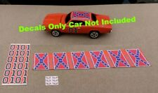 Johnny Lightning General Lee 6 Set Waterslide Decals 1/64 Decal Dukes Of Hazzard