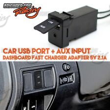 SWITCH PORT PANEL AUX+5V 2.1A USB CHARGER 12V DC POWER FOR TOYOTA COROLLA/CAMRY