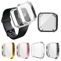 Case Rugged Bumper Cover Soft TPU Plated Screen Protector For Fitbit Versa Lite2