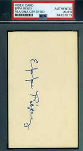 Eppa Rixey PSA DNA Coa Autograph Hand Signed 3x5 Index Card