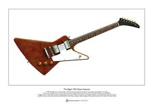 The Edge's 1976 Gibson Explorer Limited Edition Fine Art Print A3 size