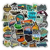 50PCS Mixed Camping Travel Stickers Wilderness Adventure Landscape Sticker Lot