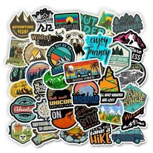 50X Mixed Camping Travel Stickers Wilderness Adventure Landscape Sticker Lot
