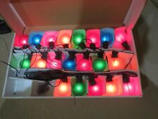 Indoor/outdoor frosted multi coloured  Christmas lights/bulbs