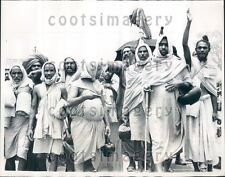 1967 India Holymen March Toward Parliament New Delhi Press Photo