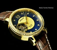 Invicta 34MM Womens (lady) Object D'Art N38A AUTOMATIC Blue MOP Leather Watch