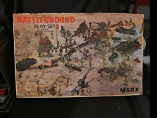 Battleground Play Set Box Top Cover with Sides Marxs #4756 vintage army solider