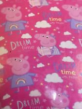 reversible dream time single duvet cover with pillow case set peppa pig
