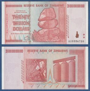 SIMBABWE / ZIMBABWE 20 Trillion Dollars 2008  aUNC  P. 89