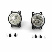 1 Pair Auto Car Fog Light H8 H9 H11 9 LED Lamp Replacement Bulbs 12V 6000K 55W