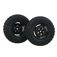 4Pcs Plastic 4-Hole Wheel Rims & Rubber Tyres For RC 1:10 Rock Crawler Car