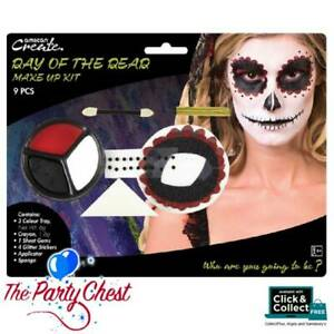 FEMALE DAY OF THE DEAD MAKE-UP KIT Halloween Dia Los Muertos Make-Up Set 01426