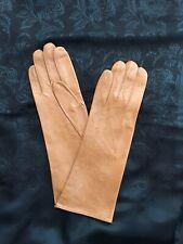 ROECKL Handschuhe  NAPPA LEDER cognac camel Gr. 7, 5  30 cm lang, ohne Futter