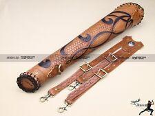Legolas Archery Real Leather Back Arrow Quiver Holder Shoulder Fixed-back Bag