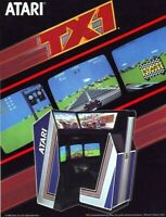 Atari TX1 Arcade FLYER Original NOS Video Game Paper Artwork Sheet Promo 1983