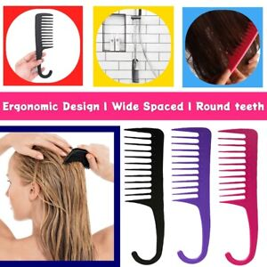 LARGE SALON HAIRDRESSING SHOWER COMB WIDE TOOTH DETANGLING WET HAIR COMB UK