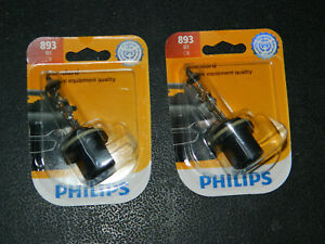 (2) NEW PHILIPS STANDARD 893 HEADLIGHT BULBS 12.8V 37.5W HEADLAMP BULB FOG LIGHT