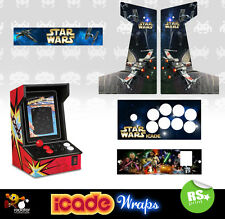 Icade Star Wars V1 Full Set Arcade Artwork Graphics Sticker Sides Marquee Panels