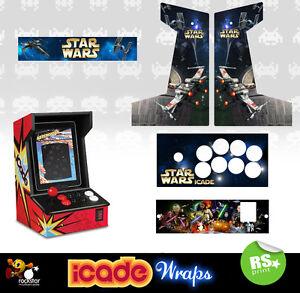 Icade Star Wars V1 Full Set Arcade Artwork Graphics Sticker Sides Marquee Panels