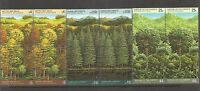 UN SC #  NY 522-23,Geneva 165-66,Vienna 80-1 Survival Of The Forests. BLK4. MNH