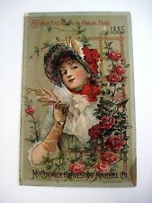 """Unusual 1885 Trade Card for """"McCormick Harvesting Machine Co. w/Camels *"""