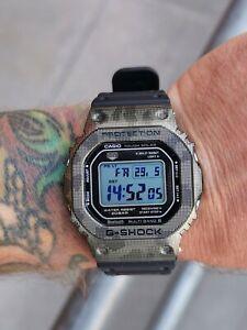 Titanium camo bezel for Casio G Shock GMW-B5000.
