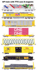 Union Pacific TTX Rail Box, Rail Gon Freight Train 8 magnets Andy Fletcher