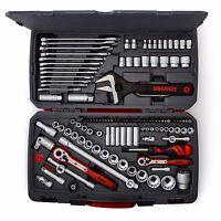 Teng Tools Large Tool Kit Tool Set 1/4  3/8 1/2 Dr Spanners Ratchets Sockets
