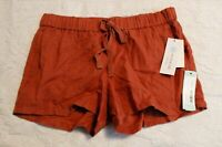 Kut From The Kloth Women's Roxanne Drawstring Linen Shorts SV3 Clay Size 4 NWT