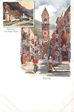 BRENNER MIT HOTEL POST STERZING SOUTH TYROL ITALY POSTCARD (c. 1900)