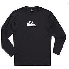 Quiksilver Men's XS Long Sleeve Rash Guard Swim UV Shirt Loose Fit Solid Streak