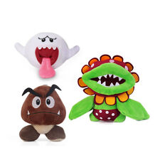 3pcs Super Mario Bros Boo Ghost & Petey Piranha Plant & Goomba Plush Doll Toy