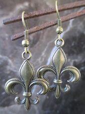 lis Artisan Earrings-New Orleans Israel Beautiful Bronze Large Fleur de