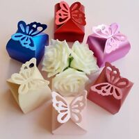 50Pcs Laser Butterfly Candy Boxes / Gift Boxes Wedding Party Baby Shower Favors