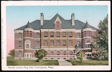 FRAMINGHAM MA Normal School State University May Hall Copper Window Vtg Postcard