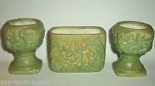 Vintage Candle Holders Vase Vanity Set Cherubs Putti Italian Grapes Variegated