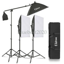 Photo Studio Photography 3 SoftBox Led Light Stand Continuous Lighting Kit