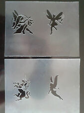 Fairy & unicorn face paint stencil sheets  reusable many times fairies