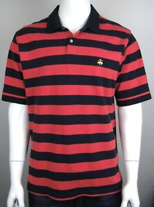 Brooks Brothers Navy Stripe Polo Shirt XL