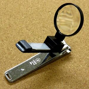 Japanese Toe Nail Clipper with Magnifying glass 105mm 4 inch Made in SEKI JAPAN