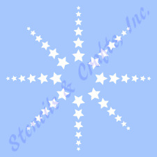 "5 1/2"" Star Stars Stencil Assorted Shapes Stencils Template Templates Craft New"