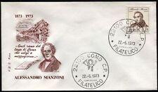 1973 - Alessandro Manzoni - n.1214  -  Busta  FDC